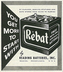 1955 Ad, Rebat Batteries (classic_film) Tags: 1955 1950s fifties advertising advert ads ad advertisement añejo alt american america anuncio anzeige retro revista reklame época ephemeral classic clásico commercialism consumerism publicidad publicité printad nostalgia nostalgic vintage technology battery