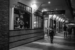 The New Brighton Hotel, early evening, Manly village, Sydney, spring 2018  #025 (lynnb's snaps) Tags: leicacl mrokkor40mmf2 manly tmaxdeveloper tmax3200 bw rangefinder hotels hotel pub pubs night evening newbrightonhotel 2018 sydney australia street leicafilmphotography rangefinderphotography blackandwhite bianconegro blackwhite bianconero biancoenero blancoynegro noiretblanc schwarzweis monochrome ishootfilm