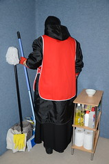 DSC_3490 (Warm Clothes Fetish) Tags: slave maid hot warm sweat torture boots coat fleece fur anorak apron rainwear winter