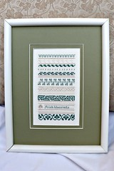 Irish Blessings Sampler (Needleloca) Tags: 2018 1992 crossstitch overone finished samplers linen gifts ribbet