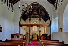 Church of St John the Baptist, Myndtown, Shropshire - interior (Baz Richardson (now away until 26 Oct)) Tags: shropshire myndtown churchofstjohnthebaptistmyndtown 12thcenturychurches medievalbuildings gradeiilistedbuildings parishchurches