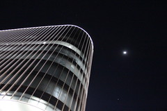 Towards the Moon (Rckr88) Tags: sandton johannesburg southafrica south africa towards moon towardsthemoon discovery discoveryplace sky skyline skyscrapers skyscraper buildings building architecture tower towers night nights light lights