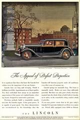 1932 Lincoln Two-Window Town Sedan (aldenjewell) Tags: 1932 lincoln v8 two window town sedan ad
