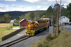 Downgrade At Lantz (DJ Witty) Tags: emd dieselelectric freight locomotive railroad photography marylandmidland sd402 sd45 landscape geneseewyoming