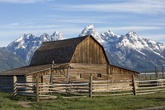 john moulton barn (eb78) Tags: jacksonhole wy wyoming grandtetonnationalpark rural barn johnmoultonbarn mormonrow rockymountains