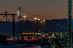 cash fast trak (pbo31) Tags: bayarea california nikon d810 color october 2018 fall night dark boury pbo31 black lightstream motion traffic roadway hayward eastbay alamedacounty sunset sanmateobridge toll plaza
