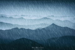 Neverending winter (Mimadeo) Tags: rain cold weather mountains rainy wet blue landscape mountain aerial remote far scenery slopes group distant scenic away valley mountainrange pattern hill cloud storm drops wilderness downpour heavy winter autumn season seasonal background raindrops climate dark silhouettes