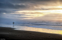 Dernières Vagues/Last Waves (laurentcornu) Tags: sunset waves sea light soulacsurmer atlanticcoast surfer laurentcornu ngc beach