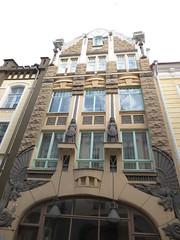 Tallinn Art Nouveau (qatsi) Tags: tallinn estonia house artnouveau dragon