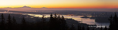 Vancouver before sunrise, viewed from Cypress Mountain Viewpoint (PhotoDG) Tags: panorama vancouver sunrise cypressmountainviewpoint sun color metro sky cloud ef70200mmf4lisusm landscape viewpoint