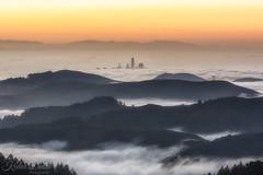 Peekaboo 2 (wandering indian) Tags: fog sf mttam city cityscape clouds sanfrancisco kedardatta california karlthefog nikon landscape
