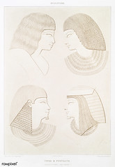 Types & portraits from Histoire de l'art égyptien (1878) by Émile Prisse d'Avennes (1807-1879). Digitally enhanced by rawpixel. (Free Public Domain Illustrations by rawpixel) Tags: otherkeywords anillustrationoftheegyptian ancient ancientegyptian ancientegyptianart antique archaeological archeology architecture art carving cc0 design designing drawing dynasty egypt egyptian egyptianstructures egyptology empire gods handdrawn histoiredelartégyptien historical history illustration mythology old oldfashioned outlines outlinesfromtheantique pattern pharao portrait psd romans sepia sketch story tomb traditional type vintage worship émileprissedavennes