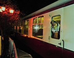 Are we there yet? (Time Grabber) Tags: timegrabber blaenavonrailway blaenavonheritagerailway steamtrains blaenavon railway monsters ghosts zombies vampires clowns witches halloween festival werewolf sinister railwaycarriage