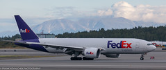 FedEx 777 at ANC (Alaskan Dude) Tags: travel alaska anchorage anchorageinternationalairport airplane airplanes airliners aviation planes planespotting planewatching