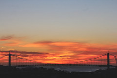 Älvsborgs Bridge (Cederquist Christoffer) Tags: bridge gothenburg sunset goldenhour golden hour göteborg sverige sunsetwaterdawnbridgeskyduskseatraveleveningoutdoorssunbeacharchitecturewinteroceanlandscapecity sigmaart sigma sigma50100f18 sigma50100 dslr canon picoftheday photography cityscape skyline icons landmark