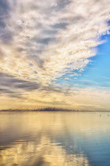 One more morning (pixtoleros) Tags: ifttt 500px sunset sunrise dramatic sky moody dawn horizon twilight dusk sun idyllic lake fog montpellier herault languedocroussillon