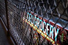 50th St. Brooklyn. (tatzlum.photo) Tags: 50thst usa urban shop newyork sign subway brooklyn 50mm