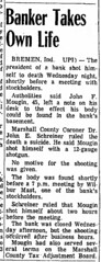 1971 - John Mougin commits suicide in bank - Terre Haute Tribune - 14 Jan 1971