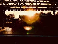 Sunset (sjpowermac) Tags: sunset 40013 andania driver arrival york 1z21 class 40 whistler charter saphos railtours