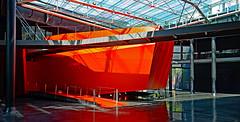 Roma moderna (Ciceruacchio) Tags: red rosso rouge museum museo musée contemporaryart artecontemporanea artcontemporain macro rome roma rom italia italy italie italien nikon