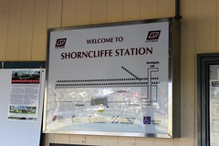 Shorncliffe Station sign, Brisbane (philip.mallis) Tags: brisbane shorncliffe shornclifferailwaystation trainstation railwaystation sign queenslandrail
