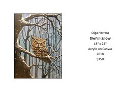 """Owl in Snow • <a style=""""font-size:0.8em;"""" href=""""https://www.flickr.com/photos/124378531@N04/30426360587/"""" target=""""_blank"""">View on Flickr</a>"""