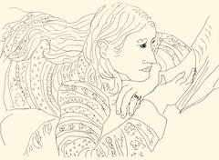 Reading 20181020 4 (danielborisheifetz) Tags: art drawing pen ink female reading