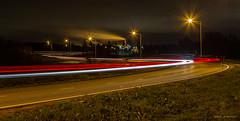 Night Lights (SamiPuranen) Tags: longexposure nightlights night nightphotography nightsky canon canonphotography canonllens canon6d landscape landscapephotography cars carlights lights lightpainting 2018 autumn suomi finland kuusankoski kouvola streetlights road
