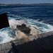 An assault amphibious vehicle departs from the well deck of USS Ashland (LSD 48)