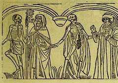 This image is taken from Page 9 of La grande danse macabre des hommes et des femmes : précédée du dict des trois mors et dfs [!] trois vifz, du Débat du corps et de l'ame, et de La complaincte de l'ame dampn (Medical Heritage Library, Inc.) Tags: dance death wellcomelibrary ukmhl medicalheritagelibrary europeanlibraries date1862 idb24877402