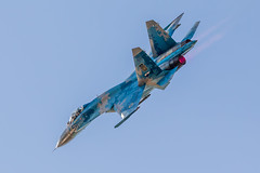 In to the sun (PIX SW) Tags: riat fairford su27 ukraine jet raffairford tattoo gloucester ukrainianairforce airshow