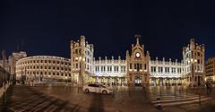 """València: """"Estación del Norte y plaza de toros"""". (lgonzalez_l Luis González) Tags: españa spain comunidadvalenciana valència noche nigth nikon"""