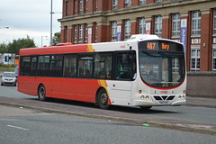 Transdev Rosso Scania L94UB 1602 YN05GXU - Bury (dwb transport photos) Tags: transdev rosso scania wright solar bus 1602 yn05gxu bury