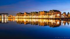 Rietplas ( Houten ) (vanregemoorter) Tags: reflection bluehour landscapes house reflet color couleur maison ciel eau bâtiment