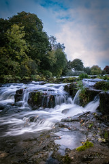 DSCF3044 (Lealtadpics) Tags: rivermaine galgorm water flow waterfall northernireland ulster coantrim rocks longexposure clouds fujifilm xt2