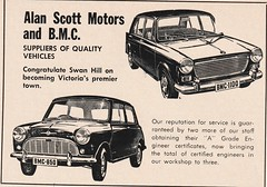 1967 Morris Mini + 1100 Ad - Australia (Five Starr Photos ( Aussiefordadverts)) Tags: 1967morrismini 1967morris1100 morrismini morris1100 morrisaustralia