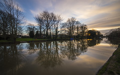 Reflecting on the Ouse (CraDorPhoto) Tags: canon6d landscape waterscape uk cambridgeshire river water calm reflection clouds sky sunset trees nature riverbank outdoors