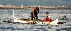Father & Son (si_glogiewicz) Tags: lake taal philippines father son work working fishing fish boat traditional generations bond bonding teaching teacher
