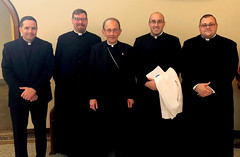 Bishop Persico and the Erie seminarians at St. Vincent Seminary, October 17, 2018