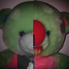 First before/after (k.bearserk) Tags: teddybear horror toys monster glitch