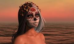 Muerta (Alea Lamont) Tags: ndmd ethnic skins shapes muerta face tattoos death skull dead bride catwa bento head blueberry omega appliers vista laq lelutka genus