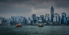 Hong Kong Island - Wen Chai Skyline - Hong Kong (mbell1975) Tags: hongkong kowloon hk hong kong island wen chai skyline china sar asia harbor harbour water sea bay ocean pacific meer clouds cloudy gray rain office building buildings business district skyscraper skyscrapers