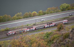 From Luxemburg to Koblenz (roomman) Tags: 2018 germany rheinland pfalz rheinlandpfalz untermosel rhein mosel koblenz winningen sightseeing weekend transport transportation train trains rail rails river flow stream moselstrecke cfl luxembourg luxemburg express emu electric multiple unit double deck 23 2306 zoom qualitz quality nikon fullframe frame full high nature landscape