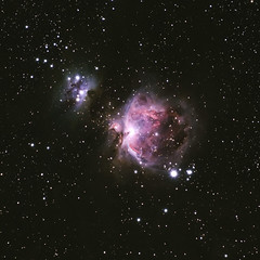 Orion nebula (M42) and Running Man nebula (NGC 1977) (Alex Savenok) Tags: orion orionnebula m42 tracker dss deepskystacker skywatcherstaradventurertracker cosmos astrophoto astronomy astroscaping astro nightsky night nikon nightscape nightfall stacking sh2279 runningman nebula
