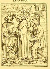 This image is taken from Page 57 of Der Todtentanz von H. Holbein, nach dem Exemplare der ersten Ausgabe im Kgl. Kupferstich-Cabinet zu Berlin in Lichtdruck nachgebildet (Medical Heritage Library, Inc.) Tags: dance death rcplondon ukmhl medicalheritagelibrary europeanlibraries date1879 idb22651263