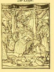This image is taken from Page 45 of Der Todtentanz von H. Holbein, nach dem Exemplare der ersten Ausgabe im Kgl. Kupferstich-Cabinet zu Berlin in Lichtdruck nachgebildet (Medical Heritage Library, Inc.) Tags: dance death rcplondon ukmhl medicalheritagelibrary europeanlibraries date1879 idb22651263