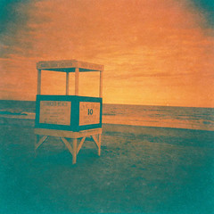 Lifeguard Stand (nicolemonsees) Tags: oceancity newjersey lifeguardstand lifeguard film expiredfilm lomography photography beach ocean sea shore nature outside outdoors holga