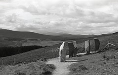 Highlands, Scotland (AJH_1) Tags: kodak tmax 400 35mm olmypus om1 50mm september 2018 scotland monochrome bw blackandwhite mountains highlands cairngorms mountain landscape