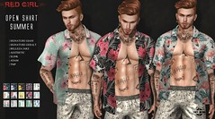 [RED GIRL] Open Shirt Summer - NEW!! ([RED GIRL]) Tags: new summer slink bellezajake tmp signaturegiani signaturegeralt shirt openshirt menswear menstyle tropical floral