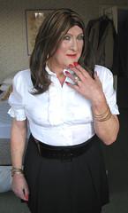 Collblaskrtclo-003 (fionaxxcd) Tags: crossdresser crossdressing m2f mtf transvestite trannie tranny ladyboy bust nipples rednails breast bangles